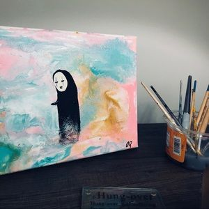 No Face hand painted